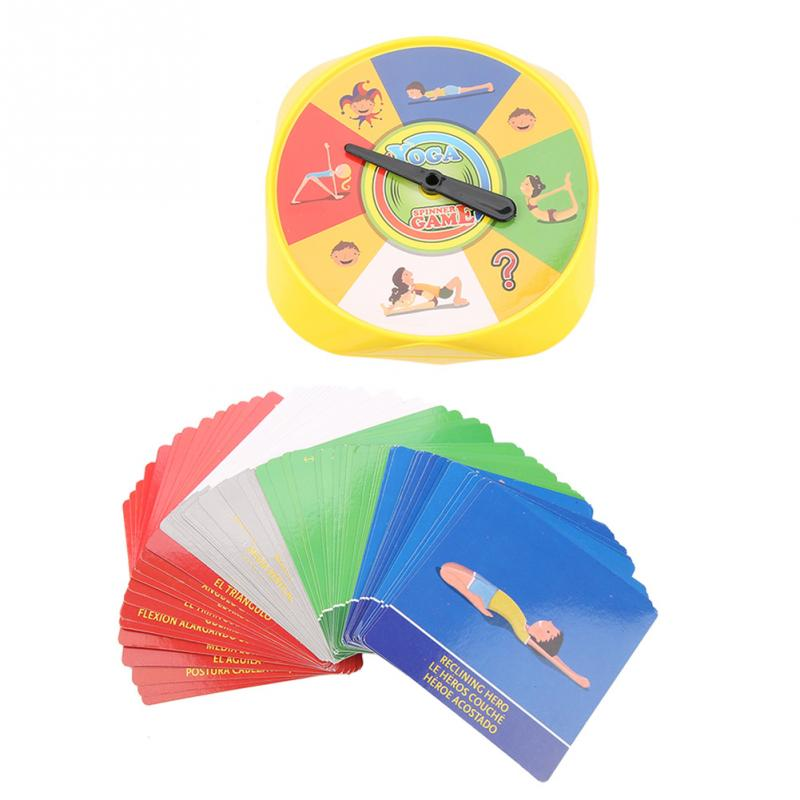 54Pcs/Set Yoga Pose Cards Early Educational Toys For Children Gift Family Yoga Game Of Flexibility And Balance Hot Sale image