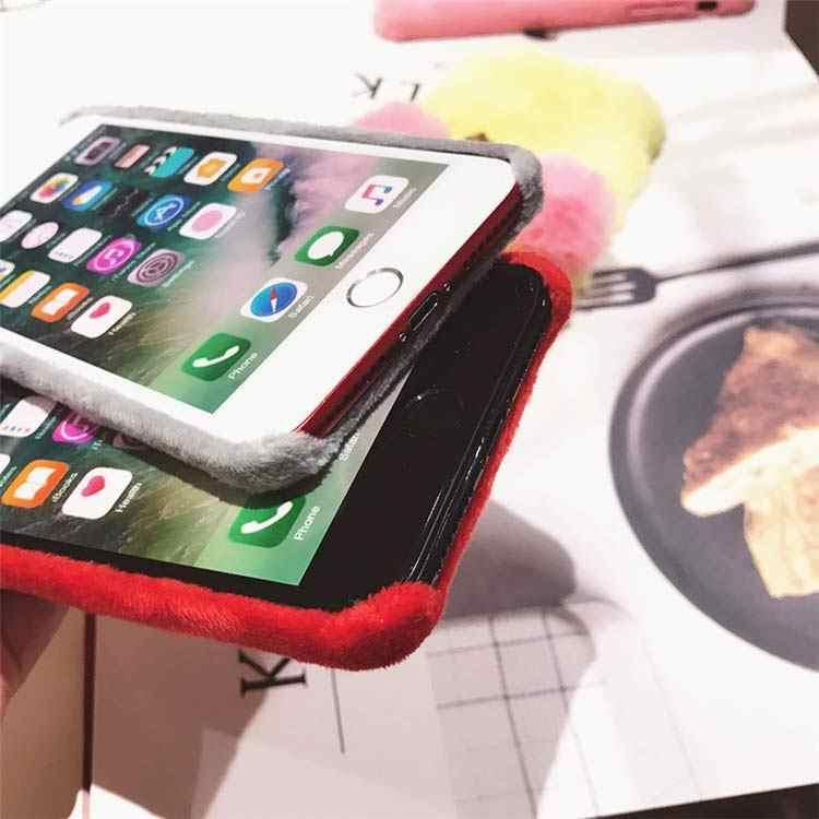 EPENA di Lusso Villi Pelliccia Cassa Del Telefono Per il iphone di Apple X XR XS Max Copertura Liscia Peluche Custodie Per iPhone 8 7 più 6 6 s Plus Funda
