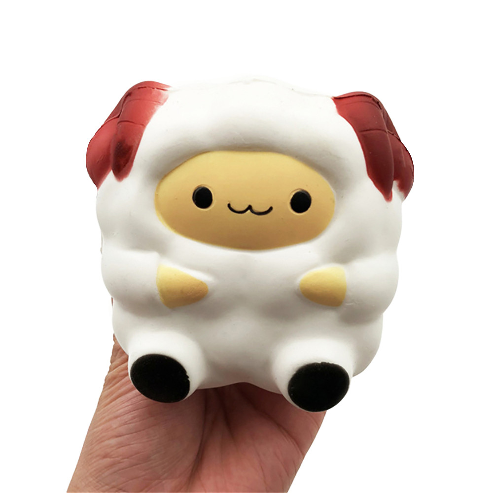 MUQGEW Cartoon Cute Squeeze Fun Sheep Squishy Slow Rising Cream Scented Decompression Unbreakable Toy Cure Gift For Children