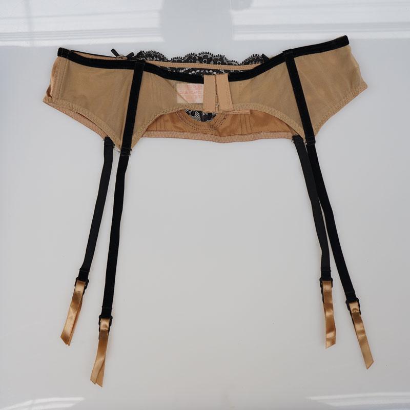 f73610274c5 Sexy Garters Coffee Satin Lace Velvet Bow Metal Buckles Sexy Garter Belts  for Stocking Fishbones Female Suspender Belts GA1045-in Garters from  Underwear ...