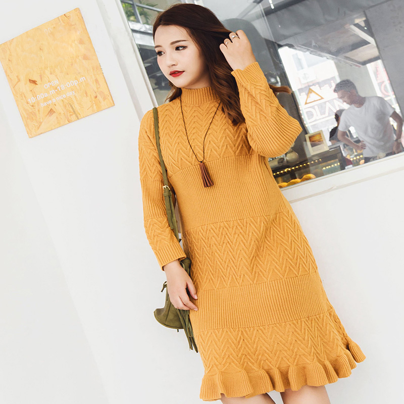sweater dress 2018 spring summer dress plus size casual bodycon dress women long sleeve large sizes dresses