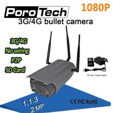 1080P 3G/4G IP bullet Camera wireless wifi Camera with AP hotspot waterproof IR night vision P2P IP Outdoor Surveillance Camera