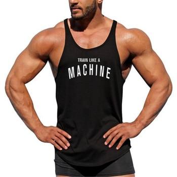 Mens gyms stringer tank top fitness vest canotta bodybuilding clothing muscle tanks singlet cotton workout Sleeveless shirt 6