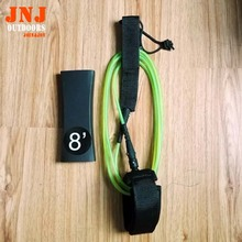 free shipping strongest TPU straight 8' 5.5mm surfing leash surfboard leash