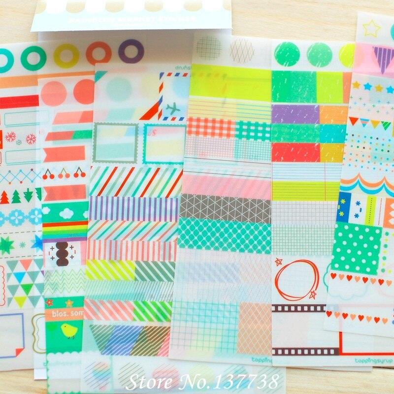 Hot Sale 6 lembar / set Baru Kawaii Rainbow Mercado Sticker - Mainan klasik - Foto 2