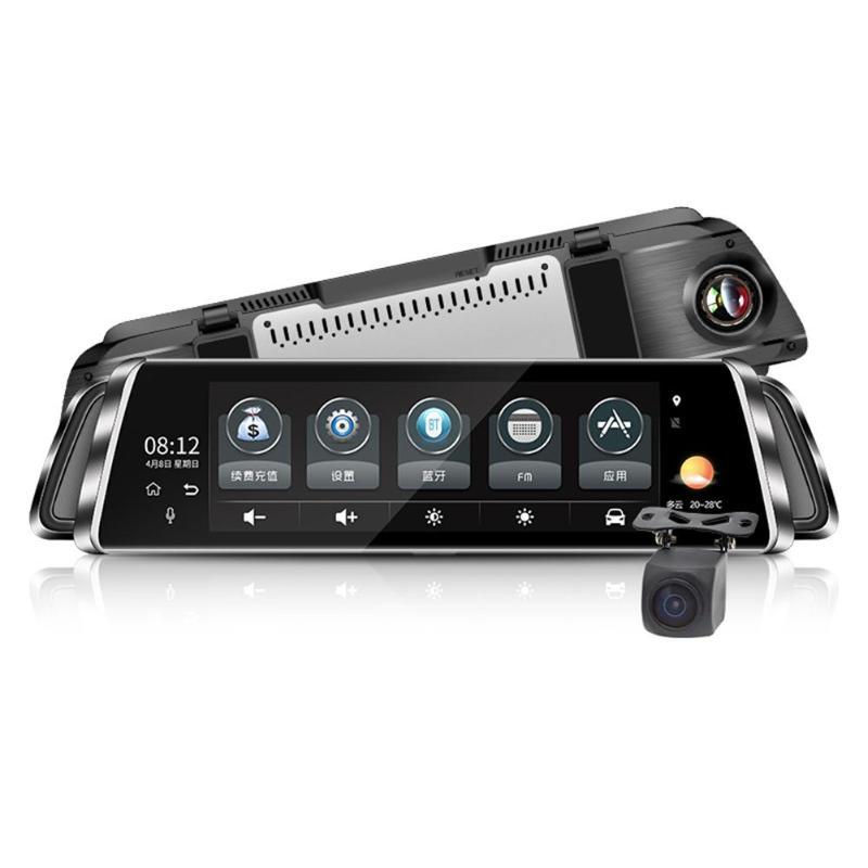 9.35in IPS Écran Tactile Double Lentille 4g Android Voiture DVR Caméra Rétroviseur WDR ADAS Enregistreur Vidéo Vision Nocturne caméra de tableau de bord GPS