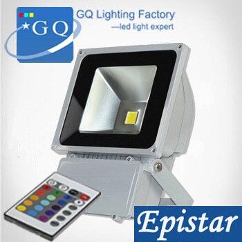 20 unids/bolsa RGB LED reflector de luz de inundación proyectores de Exteriores lámpara de luminaria de paisaje