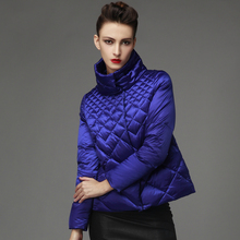 2016 New Fashion Short Down Jacket Women's Stand Collar White Duck Down Coats&Jackets Female Winter Brand Casual Parka