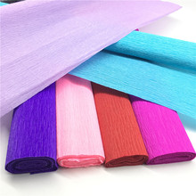 250*50cm/Roll Colored Crepe Paper Handmade Craft DIY Flowers Wrapping Goffer for Birthday Wedding Party Decoration