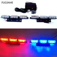 FUGSAME 2X9LED auto Flash strobe lamp bulbs LED car vehicle warning Lights emergency 18 led 3 flashing modes lighting White