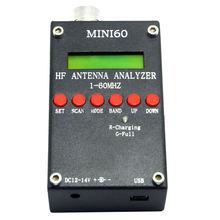 Sark100 Mini60 HF ANT Antena SWR Analyzer Medidor Bluetooth APP Android Preto
