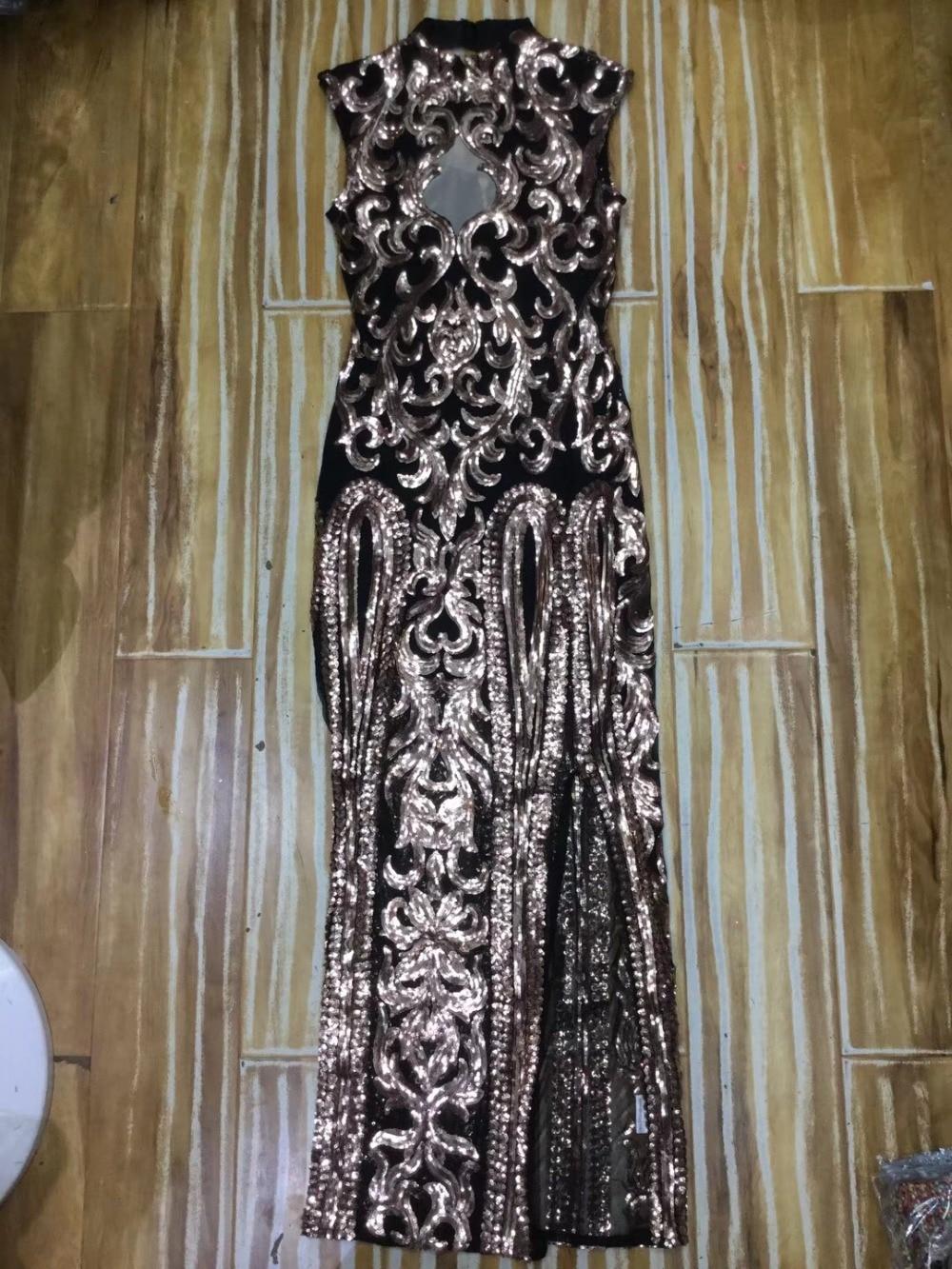 Long Women Sequins Designer Elegant Keyhole Dress Wholesale Mesh Sexy Party Bling 2018 Bodycon c0pwRfRqO