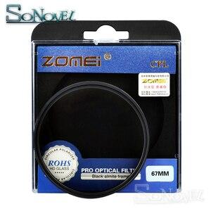 Image 2 - Zomei 49mm/52mm/55mm/58mm/62mm/67mm/72mm/77mm/82mm CPL polariseur circulaire filtre polarisant pour Canon Nikon objectif appareil photo Sony