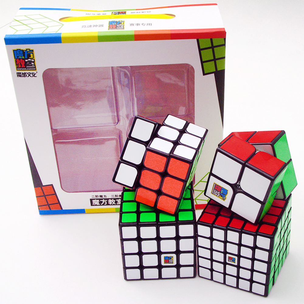 4PCS/set MoYu 2*2 on 3*3 4*4 5*5 Speed Puzzle Magic Cubes Classroom 3x3x3 4x4 5x5x5 2x2x2 Cubo Megico Mofangjiaoshi