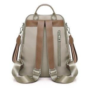 Image 4 - Kobiety podwójne plecaki z zamkiem błyskawicznym wielofunkcyjne Oxford tkaniny tornister plecaki dla dziewcząt kobieta plecak vintage torby na ramię A4