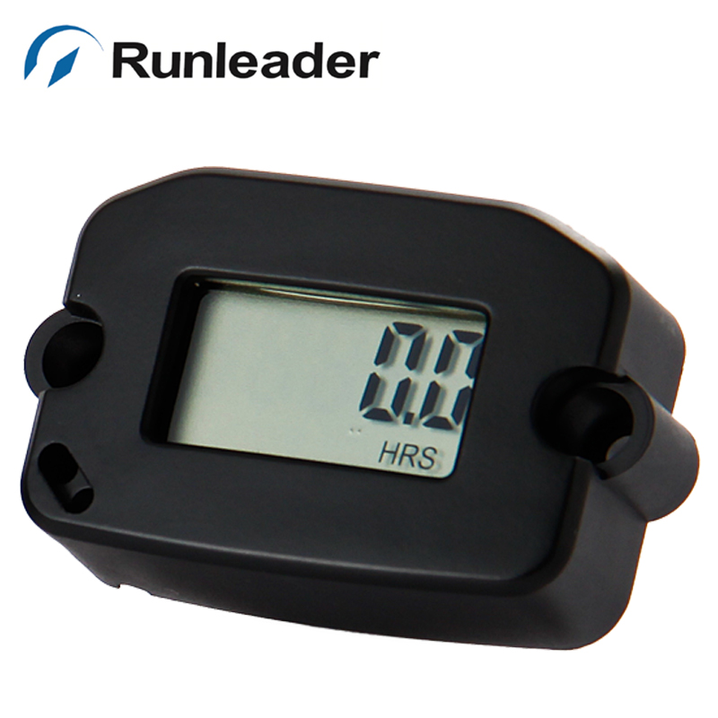 Waterproof LCD Hour Running Meter for Pit Bike Generator Jet Ski Lawn Mower motorcycle pit bike chainsaw jet boat