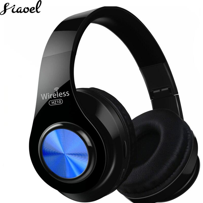 Casque Bluetooth casque Radio FM sans fil carte TF HIFI écouteur appelant basse avec micro pliable longue durée de vie de la batterie