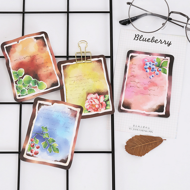 Vintage Color Student Paste Memo Pad Planner Sticky Note Paper Sticker Kawaii Stationery Pepalaria Office
