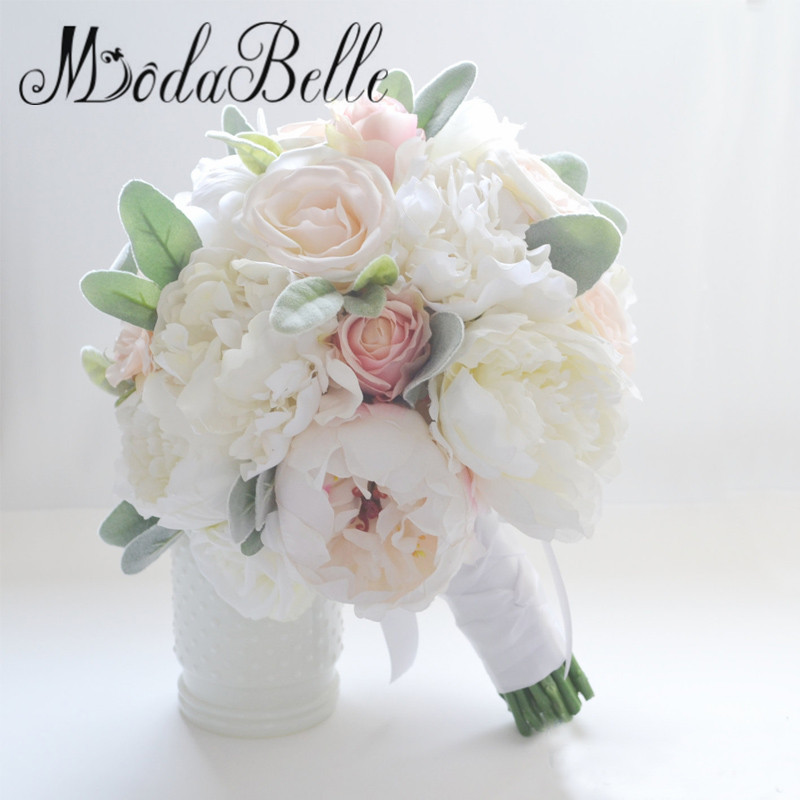 silk wedding bouquets for sale ivory silk flowers peonies wedding bouquet bouquet 7420
