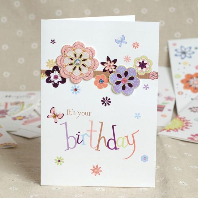 High Quality Diy Happy Birthday Card Greeting Card Free Shipping On