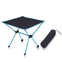 야외 피크닉 테이블 캠핑 휴대용 알루미늄 접는 테이블 옥스포드 헝겊 방수 울트라 라이트 여행 책상 가구 4 색