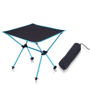 Image 1 - Outdoor picnic table camping portable aluminum folding table Oxford cloth waterproof ultra light travel desk furniture 4 color