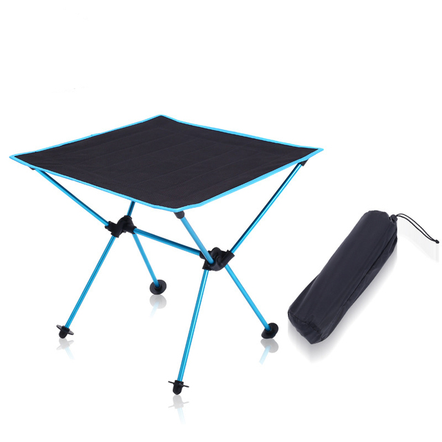 Outdoor picnic table camping portable aluminum folding table Oxford cloth waterproof ultra light travel desk furniture 4 color