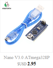 HWAYEH high quality One set UNO R3 CH340G+MEGA328P Chip 16Mhz For Arduino UNO R3 Development board + USB CABLE 9