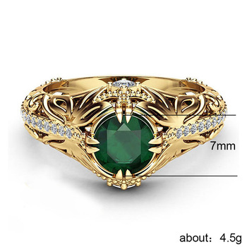 2019 matrimonio compromiso anillo mujer Cubic Zirconia anillo de pareja de boda...