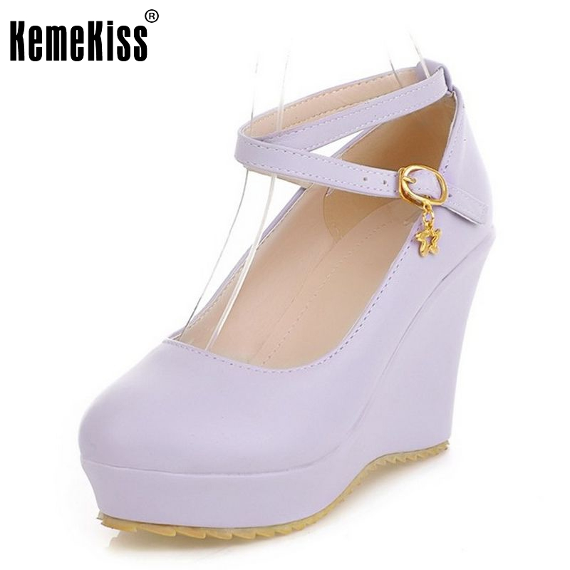 free shipping high heel wedge shoes platform fashion women dress sexy pumps heels P12274  hot sale EUR size 34-43 цены онлайн
