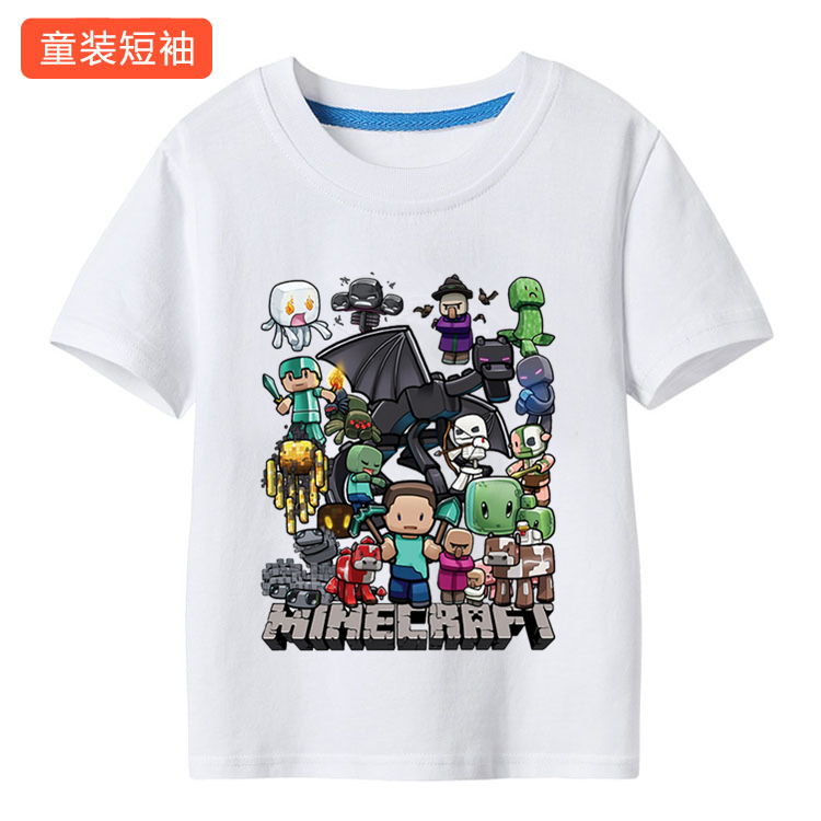 minecraft SHIRT kid child boy toddler women men TEE cotton T SHIRT summer family short sleeve shirts clothes