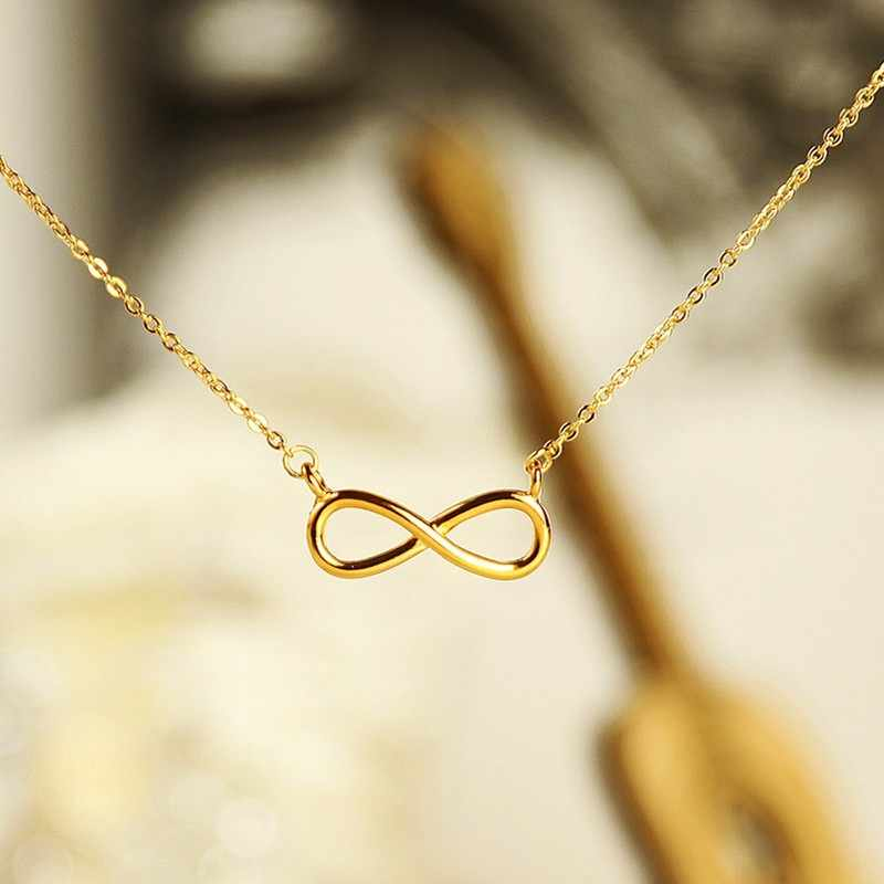 Gold Charm Infinity Pendants Choker Necklaces For Women Boho Jewelry Eternal Friendship Necklace Bijoux Femme Collier 2017 Bff