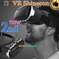 High Quality Shinecon VR 2.0 II 3D Glasses Virtual Reality Headset Google Cardboard Smartphone VR BOX Helmet for 4.7-6'phone