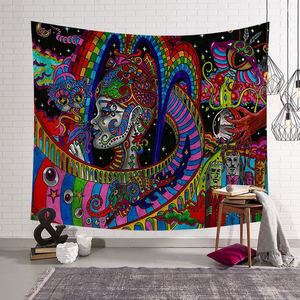 Image 4 - Polyster Hippie Mandala Pattern Tapestry Abstract Painting Art Wall Hanging Gobelin Living room Decor Crafts  Tapestries GT0024