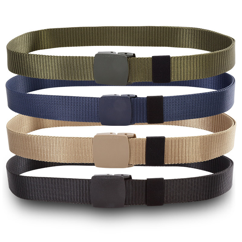 Stylish Solid Color Buckle Weave Nylon   Belt   Outdoor Movement Men Male   Belts   FS0419