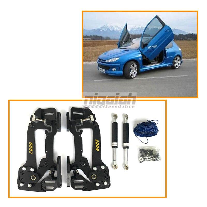 Top Qualité Haute Résistance Sicssor Porte charnière Verticale Lambo porte kits pour Peugeot 206 207 307 206CC 307CC 308CC