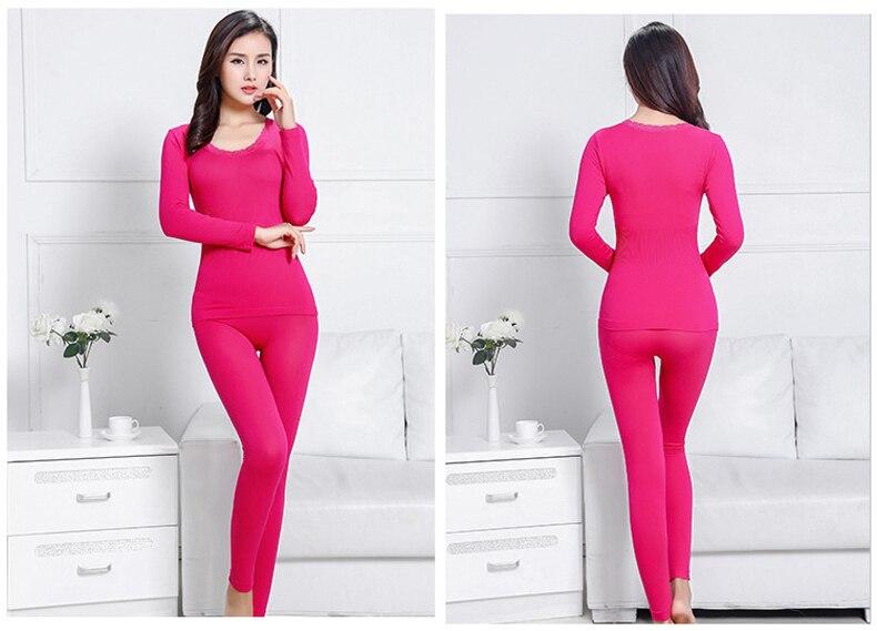 Long Johns Women For Winter Sexy Women Thermal Underwear Suit Women Body Shaped Slim Ladies Intimate Sets Female Pajamas Warm 56