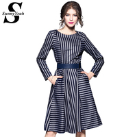 SunnyYeah Autumn Winter OL Women Dress Sexy Slim Long Sleeve Vestidos Lady Office Work Wear Clothes