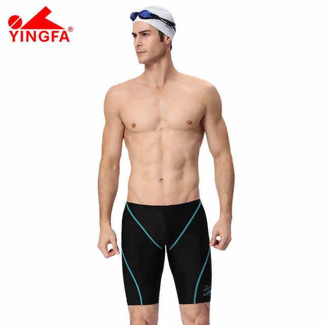 13d224fee5 Yinfa FINA Men Swimsuit Competition Boys Swimwear Briefs Mens Swimming  Trunks For Bathing Swim Shorts Sharkskin Swimsuit