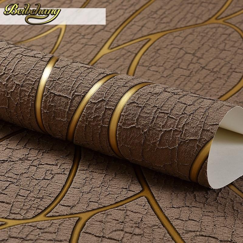 beibehang Deerskin line papel de parede 3D Flocking Wallpaper For Bedroom Living Room Home Decoration 3D