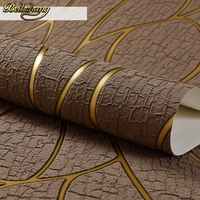 Luxury Deerskin Line Papel De Parede 3D Flocking Wallpaper For Bedroom Living Room Home Decoration 3D