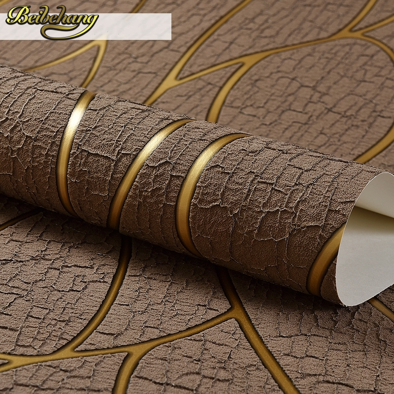 Beibehang 鹿ライン papel デ parede 3D フロッキング壁紙ベッドルームリビングルームホームデコレーション 3D ウォールペーパーロール宮殿  グループ上の 家のリフォーム からの 壁紙 の中 1