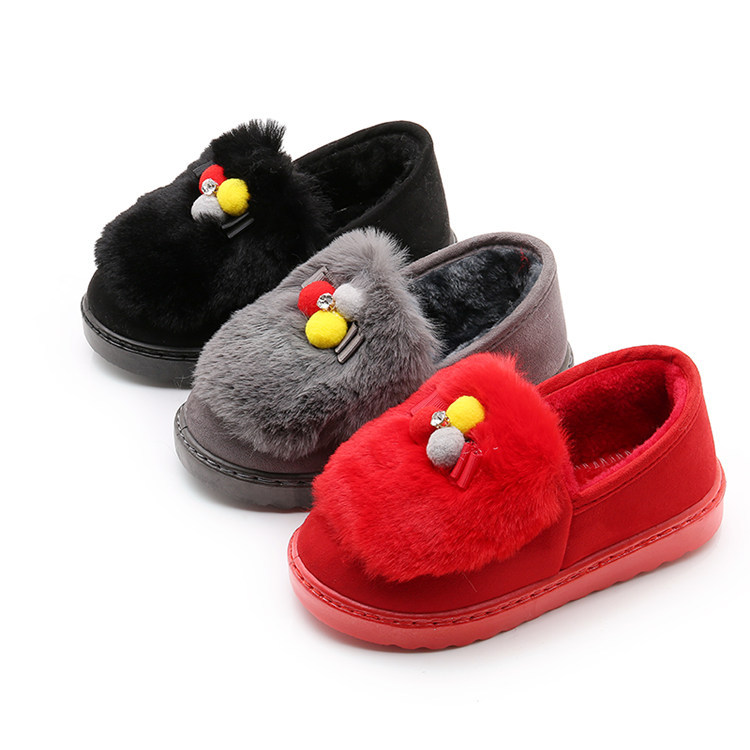 Winter Children Slippers Boys Girls House Cotton Sheep Shoes Kids Slippers  Indoor Baby Fur Warm Slippers Children Shoes-in Slippers from Mother   Kids  on ... 2ef86817a8fe