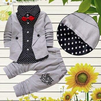 3fe7bdd529873 baby boy clothes Kid Baby Boy Gentry Clothes Set Formal Party