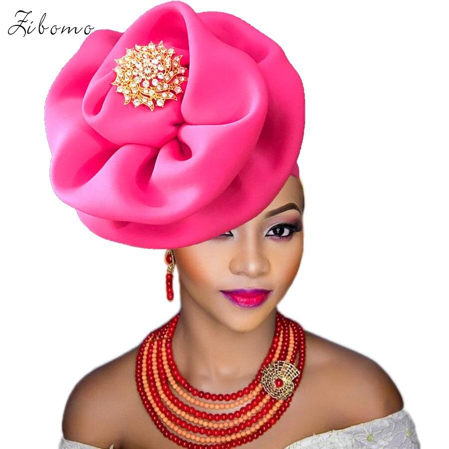 Turban headtie african turban cap aso oke gele ready to wear auto hele african lace auto gele aso ebi headtie 2018 new (3)