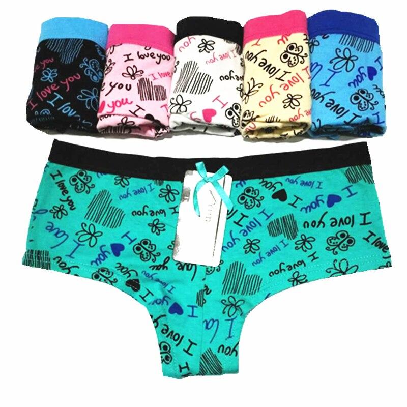 1d01ab795 Calcinhas das mulheres Roupa Interior Nova Impressão Moda Sexy Algodão  Briefs Underwear Mulheres Lady Lingerie Respirável Das Mulheres do Sexo  Feminino (5 ...