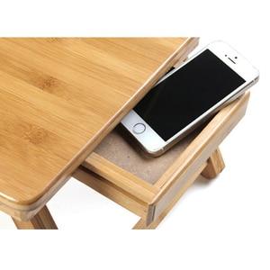 Image 3 - Эргономичный регулируемый стол для ноутбука с USB охлаждающим вентилятором для круглого стола бамбуковый складной поднос для завтрака удобный желтый