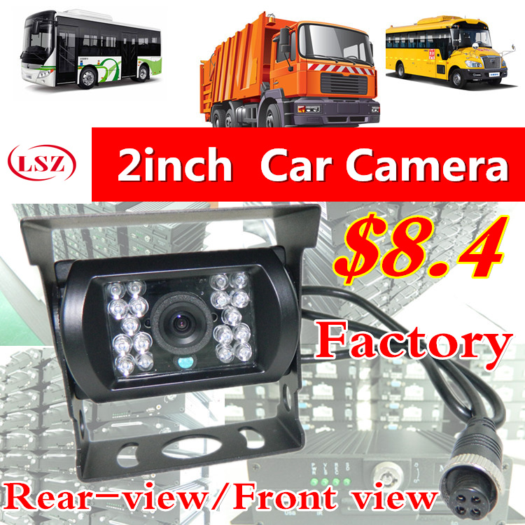 LSZ car Rear View CMOS Camera Reverse Backup Camera Rearview Parking 120 Degree IR Nightvision Waterproof 24V Bus Truck Camera hd ccd 120 degree ir nightvision waterproof 4pin car parking rear view camera cmos bus truck camera for bus