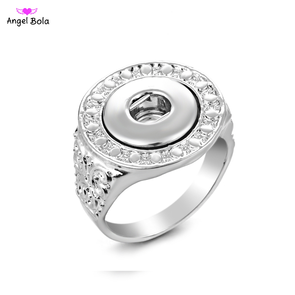 Latest fashion elegant artistical embossment pattern snap jewelry ring fit snap alloy button for women pryme jewelry image