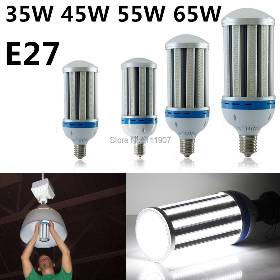 E27 35W 45W 55W 65W LED Corn Light Bulb Industrial Lighting AC85-265V Cool White/Warm White High Power Lamp Free Shipping